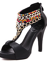 Women's Shoes  Stiletto Heel Heels / Slingback / Open Toe Sandals Dress Black