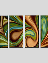 Abstract Style Canvas Material Oil Paintings with Stretched Frame Ready To Hang Size 90*30CM*4PCS