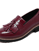 Women's Shoes  Platform Round Toe / Closed Toe Oxfords Casual Black / Almond / Burgundy