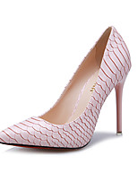 Women's Shoes Stiletto Heel Heels / Pointed Toe / Closed Toe Heels Dress Black / Pink / White / Silver