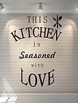 AYA™ DIY Wall Stickers Wall Decals, Kitchen English Words & Quotes PVC Wall Stickers
