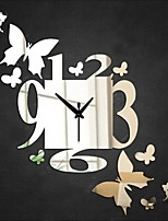 Redondo Moderno/Contemporáneo / Casual / Oficina/ Negocios Reloj de pared,Vacaciones / Casas / Inspirador / Amigos / Cumpleaños / Boda /