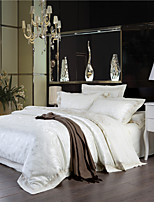 At a Loss Milk White Bedding New Year Gifts Comforter Set Plain Solid Bedlinen Elegant Sheets Queen King