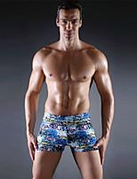 Homens Tomara-que-caia,Calcinhas, Shorts & Calças de Praia Floral,Poliéster Elastano Color Block