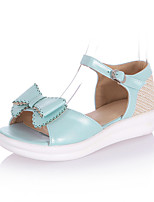 Women's Shoes Platform Peep Toe / Platform / Creepers Sandals Outdoor / Dress / Casual Blue / Pink / White