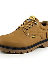 Черный Желтый Коричневый-Для мужчин-Для прогулок Для офиса Повседневный-Полиуретан-На низком каблуке-Удобная обувь Светодиодные подошвы-
