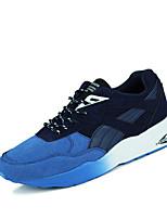 Scarpe Sneakers Da uomo Finto camoscio Nero / Blu / Rosso