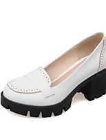 Women's Shoes  Chunky Heel Heels / Round Toe Heels Outdoor / Office & Career Black / Red / White / Almond