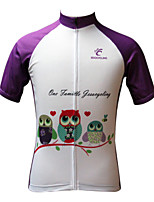 JESOCYCLING Fahrradtrikot Damen Kurze Ärmel FahhradAtmungsaktiv Rasche Trocknung UV-resistant Leichtes Material Tasche auf der Rückseite