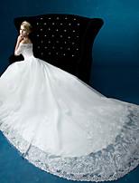 A-line Wedding Dress - Ivory Floor-length Bateau Organza