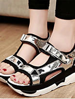 Women's Shoes Leatherette Platform Creepers Sandals Casual Black / White / Silver