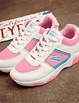 Scarpe Donna-Sneakers alla moda-Tempo libero / Casual-Comoda-Piatto-Tulle / Finta pelle-Nero / Rosa / Bianco