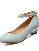 Chaussures Femme-Mariage / Bureau & Travail / Décontracté / Soirée & Evénement-Bleu / Rose / Amande-Talon Bas-Confort-Talons-Similicuir