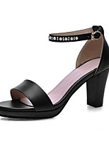 Women's Shoes Chunky Heel Platform Sandals Office & Career / Party & Evening / Dress Black / Pink / White