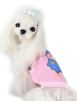 Cães Camiseta Verde / Azul / Rosa Verão Fashion