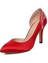 Chaussures Femme-Mariage / Bureau & Travail / Soirée & Evénement-Noir / Bleu / Rose / Rouge-Talon Aiguille-Talons-Talons-Similicuir