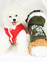 Dog Coat Red / Green Winter Fashion