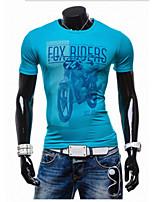 Masculino Camiseta Casual Cor Solida Algodão Manga Comprida Masculino