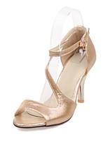 Women's Shoes Stiletto Heel/Open Toe Sandals Party & Evening/Dress Purple/Silver/Gold