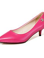Women's Shoes PU Stiletto Heel Heels / Comfort / Pointed Toe Heels Office & Career / Dress / Casual Black / Blue