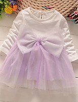Girl's Pink / Purple / Gray Dress,Bow Spandex Spring / Fall