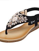 Women's Shoes Synthetic Wedge Heel Wedges / Platform / Slingback Sandals Dress Black / Almond
