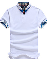 Men's Short Sleeve Polo,Polyester Work / Plus Sizes Pure