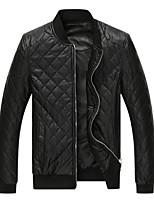 Men's Long Sleeve Jacket , PU Casual / Work / Sport Pure