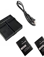 ismartdigi EL14 Digital Camera Battery x2 + Dual Charger for Nikon D3200 D3300 D5100 D5200 D5300 D5500