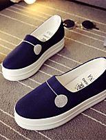 Women's Shoes Canvas Platform Creepers Loafers Outdoor / Work & Duty / Casual Black / Blue / Red