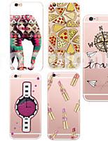 Für iPhone 5 Hülle Ultra dünn / Transparent / Muster Hülle Rückseitenabdeckung Hülle Zeichentrick Weich TPU iPhone SE/5s/5