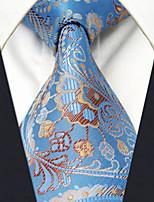 Men's Tie Blue Paisley Fashion 100% Silk  Business