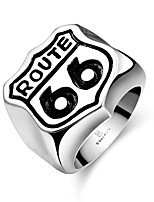 Men Jewelry 316L Stainless Steel Men's Route 66 Rings Punk Vintage Party Skeleton Jewelry Wholesale US Size 8-11