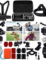 24 in 1 Accessories Kit Case Bag Chest Strap Head Mount Monopod For GoPro Hero2/3/3+/4 Sj4000