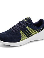 Scarpe da uomo-Sneakers alla moda-Tempo libero / Casual-Tessuto-Nero / Verde / Grigio