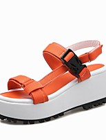 Women's Shoes Fabric Platform Platform / Slingback / T-Strap / Creepers Sandals Outdoor / Dress Yellow / Pink / Orange