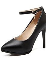 Women's Shoes Leatherette Stiletto Heel Heels Heels Wedding / Office & Career / Party & Evening Black / Pink / Beige