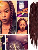 caixa de tranças de cabelo em massa de cabelo tranças crochê extensões de 24 cm de cabelo havana mambo torção trança senegalês