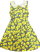 Girl's Floral Collar Cute Party Birthday  Baby Children Clothing Dresses