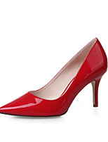 Women's Shoes  Stiletto Heel Heels / Pointed Toe / Closed Toe Heels Dress Black / Red / Almond