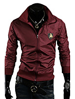 Men's Long Sleeve Jacket,Polyester Casual / Sport Pure