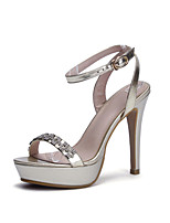Women's Shoes Leather Stiletto Heel Platform / Slingback / Gladiator / Comfort / Novelty / Pointed Toe /