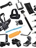 17 Acessórios GoPro Montagem / Molduras / Monopé / Alças / Bolsas / Parafuso / Boje / Acessório Kit / Adesivo / Clipe / Bastão de Mão Para