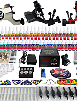 Solong Tattoo Complete Tattoo Kit 3 Pro Machine Guns 54 Inks Power Supply Foot Pedal Needles Grips Tips TK355