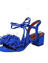 Women's Shoes Chunky Heel Slingback Sandals Office & Career / Dress / Casual Black / Pink / Red / Royal Blue / Navy
