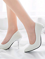 Women's Shoes Leather Stiletto Heel Heels Heels Wedding / Office & Career / Party & Evening / Dress / Casual Black