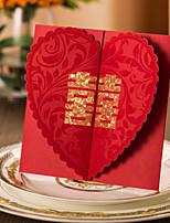Cartes d'invitation / Faire-Parts de Fiançailles Invitations de mariage Plis Portefeuille Personnalisé 50 Pièce/Set