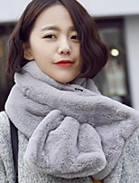 Womenhan Edition Of Winter Fashion Imitation Rabbit Pure Color Warm Scarf Female Scarves