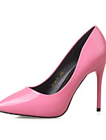 Women's Shoes Stiletto Heel Heels / Pointed Toe / Closed Toe Heels Dress Black / Pink / Red / Gray