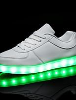 Scarpe Donna-Sneakers alla moda-Tempo libero / Casual / Sportivo-Punta arrotondata / Comoda-Piatto-Vernice-Nero / Bianco